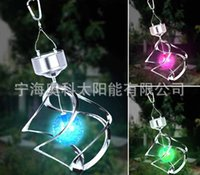 Wholesale Lamp Solar Wind Street - 2015 7 Colors Solar Lamps light Lawn Light, Rotating By Wind with solar battery LED Night Light for corridor Yard Holiday
