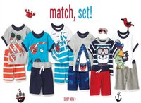 Wholesale Stripe Casual Shorts Set - boys shorts sets 2015 boys pirate clothing baby boy summer outfits kids clothing boys shirts sets stripe shorts set free shipping in stock