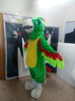 Wholesale Advertising Pictures - high quality Real Pictures Deluxe parrot mascot costume advertising mascot Adult Size factory direct free shipping