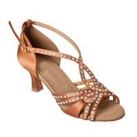 Wholesale Modern White Heels - Ms. Photo Color professional dance shoes to adapt to modern dance ballroom dancing Latin dance high heel 6cm 7.5cm 8.5cm clz0289
