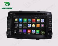 Wholesale Dvd Sorento - Car DVD GPS Navigation Player for KIA SORENTO 2011 Bluetooth Wifi 3G Steering Wheel Control Quad core HD Screen 1024*600 Android 5.1