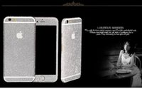 Wholesale Sparkling Screen Protector - Shiny Glitter Full Body Stickers for iPhone 4S 5S 6 4.7'' 6 Plus Sparkling Diamond Film Decals Matte Screen Protector Wholesale
