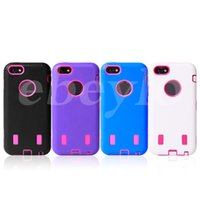 Wholesale Cover Iphone5c - 30pcs HOT 3 IN 1 Hybrid Robot PC+TPU Back Cover for iphone 5C Cell Phone Cases for iphone5C