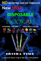 Wholesale Ego Nicotine - New ShiSha Time Disposable Cigarette E HOOKAH 500 Puffs No Nicotine Various Fruit Flavors Colorful retail package SHISHA TIME Pens EGO Cigs