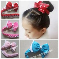 Wholesale hair bows extensions - 5pc hair Bun wraps boutique hair Buns bows clips Head Wrap Hairband Headbands for girl women Hair Extensions Full Snood Hair Accessory PD020