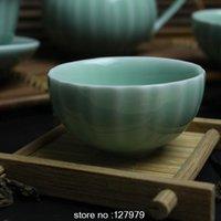 Wholesale Tea Lights Sale - Authentic Longquan celadon, di kiln, lotus Light green tea cup, porcelain teacup, China wind cup, on sale~
