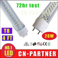 Wholesale white led manufacturers - x50 manufacturers direct sale UL CE ROHS 28W 4ft 1200mm T8 G13 Led Tubes Lights Double Rows 1.2m Led Fluorescent Tubes Light 192pcs SMD 2835