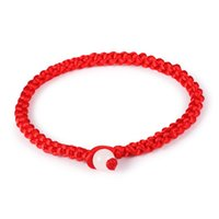 Wholesale Cheap Bangles For Men - Wholesale-Chinese Red Rope Charm chain Lucky Bracelets Bangle Handmade Women Men Fashion Jewelry For Unisex Cheap Price