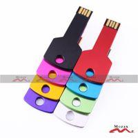 Wholesale Free Custom Engraved Logo MB MB MB GB GB GB GB GB Metal Key USB Drive Memory Flash Pendrive Stick
