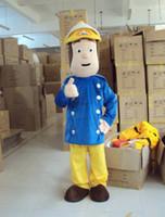 Wholesale Fireman Adult Mascot Costume - Fireman Sam Mascot costume Fancy Dress Adult size Free shipping