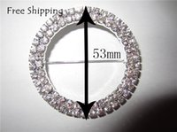 Wholesale Spandex Bands Rhinestone - Free shipping Lovely Shining Rhinestone buckle(10pcs lot) for wedding cover chair spandex decoration buckles for cahir band and sash