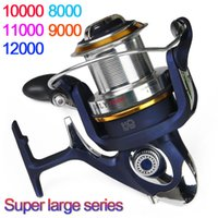 Wholesale Cheap Fishing Reels - High Quality saltwater 8000 - 12000 Series 9+1BB Spinning fishing reel Cheap Saltwater Surf casting reel best saltwater fishing reels