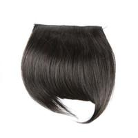 ingrosso capelli frangia-Estensioni diritte seriche dei capelli umani di colore naturale dei capelli umani della frangia vergine di un pezzo Trasporto di DHL XBLHair