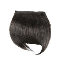 saçaklar toptan satış-Virgin İnsan Saç Saçak Doğal Renk Ipeksi Düz İnsan Saç Uzantıları Tek Parça DHL Kargo XBLHair