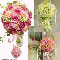 Wholesale Dried Flowers Bouquet - Elegant 2015 Wedding Bridal Bouquet Decorations 25 CM Artificial Flowers Wedding and Bridal Accessories Dhyz 01