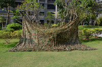 Wholesale Free shipment Woodland Camouflage Netting decoration woodland camo net sun shade net