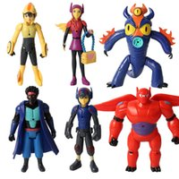 Wholesale Natural High Toys - 6pcs set Large High Quality Big Hero 6 Action Figure Play Set Baymax Fred Go Go Tomago Honey lemon Toys Cartoon doll toy children kid gift