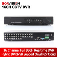 Wholesale Cctv D1 - 16Ch Full 960H D1 DVR Real time Recording Playback With HDMI 1080P Output 16 Channel 16Ch Hybrid DVR NVR CCTV Onvif P2P Cloud