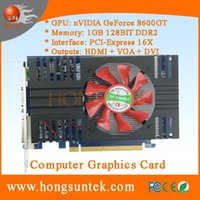 Wholesale Nvidia Video Card Geforce 1gb - Wholesale-100% New NVIDIA GeForce 8600GT 1GB 128BIT DDR2 Video Card HDMI PCI-E16X Dropship Free Shipping with tracking number