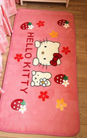 Wholesale Diy Carpets - Promotions!! Hot Sale Fashion Hello Kitty Carpet  Kitty Rug Kitty Mats kid's carpet size:60*120cm JEKT0502-1