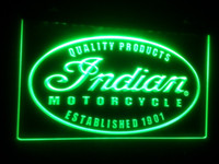 Wholesale advertising panels - b122 Indian Motorcycle Service size Neon Light Sign Advertising led panel