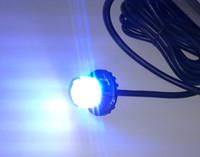 feux de police achat en gros de-haute intensité DC10-30V, feux d'avertissement de stroboscope de voiture menés par Hideaway de la voiture 8W, lumières d'urgence de police, lumières de police menées, modèle de 22flash, IP67 imperméable à l'eau