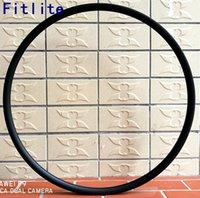 легкие велосипеды карбоновые диски оптовых-Только 289g легкий MTB 29er Carbon Rims XC Race 29inch Горный велосипед 27x25mm Carbon Wheels