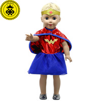 Wholesale wonder woman cosplay costume online - American Girl Doll Clothes Wonder Woman Cosplay Costume Doll Clothes for inch Dolls Baby Born Doll Accessories MG