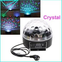 Atacado-para Bulb Partido Dj Disco Natal Xmas RGB Led Efeito Stage Light Crystal Magic Ball Lâmpada colorida DMX6CH canal de 20W