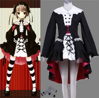 Wholesale Japanese Female School Uniforms - 2016 Japanese Anime Costumes Yuki Nagato LOLITA Cosplay school girl uniform lockable dress Halloween Costumes adult