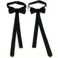 pajarita de mariposa negra al por mayor-Bowknot lazo corbata corbata de moda corbata de poliéster para hombres mariposa adultos pajaritas negro blanco