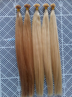 "Wholesale Hair Extensions Light Blond - 16"" - 24"" #27 Honey Blond and #613 Bleach Blonde Straight Keratin Nail U Tips Hair Extensions INDIAN REMY 100g"
