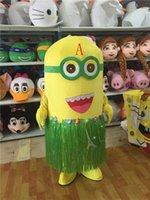 Wholesale Despicable Costumes - Despicable Me Minions Mascot Costume Fancy Dress Adult Size Cartoon Clothing Yellow Minions Mascot Costume Halloween Party Dress