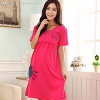 Wholesale Maternity Wear Fashion Clothes - Wholesale-2015 New Maternity Nursing Dress Dresses,Summer Fashion Cotton Casual Pregnant Nursing Breastfeeding Wear Dress Clothes