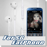 Wholesale Earphones Boxes - For Samsung Galaxy S7 S6 headphone earphone in-ear 3.5mm In Ear Stereo With Mic & Remote Volume Control with Retial Box