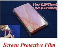 filme para telemóvel venda por atacado-Navio livre 200 pcs CLARO Universal 6 7 polegada Grade Protetor de Tela filme Composto para o Telefone Móvel GPS MP4 PDA