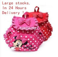 Wholesale Mouse Backpack - 2014 new children backpacks mikey minnie mouse School Bags kids Toddlers bag girls school backpacks mochilas femininas Free Ship