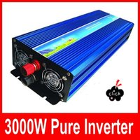 Wholesale Home Power Inverter - 3000w inverter pure sine wave max 6000w power DC 12V 24V 48V 110V to AC100V-240V 50Hz 60Hz for solar wind home use