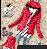 Wholesale Thin Cotton Winter Hat - 2015 New Fashion Casual Windbreaker Down Winter Women's autumn and winter women's Candy-colored Coat Outerwear Jackets