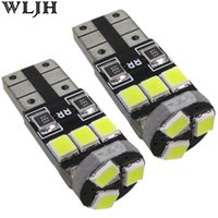 Wholesale Instrument Lead - WLJH White Crystal Blue Led T10 Canbus 9LED 2835 SMD NO Error W5W Car Led Parking Light For Ford Focus 2