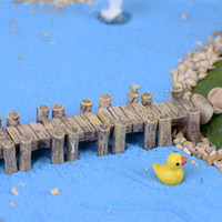 Wholesale Bridge Crafts - Artificial miniatures bridges mini fairy garden gnomes moss terrariums resin craft figurines for home decoration accessories