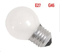 Wholesale E14 Led Dimmable Frosted - G45 Frost Cover Led Bulbs 2W 4W Dimmable Globe Bulb E27 E14 B22 110V 220V decorative Led Bulb Filament Lamp