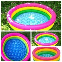 Wholesale plastic toy boats for kids for sale - Group buy Swim Ring beach Inflatable Swimming Pool for adults and Toddler Baby swim pool piscine inflatable air mattress piscina inflavel