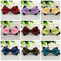 Gros Angleterre style décontracté hommes cou Bowtie Double Couche noeuds papillon multi style Mens Wedding Party Ties jacquard Groom Cravates cher