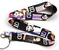 Wholesale One Direction Neck Strap - Wholesale-New Free shipping 50pcs ONE DIRECTION Cell PHONE LANYARD KEYS ID NECK STRAPS Key Chain