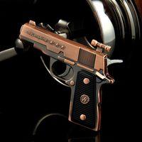 Wholesale Lighter Pistol Wholesale - Wholesale-BoLangNing pistol model lighters,Vintage metal windproof Gas cigarette lighter ,Pistol model cigarette lighters