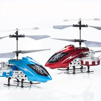 Wholesale Avatar Metal Gyro 4ch - Wholesale-Free Shipping! RED BLUE 4CH Mini RC Avatar Gyro Metal Helicopter RTF AD050 LED Light