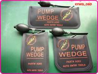 Wholesale car unlocking - KLOM Small  Middle Big size air wedge Air pump wedge Inflatable Unlock Door car 3pcs lot free shipping -Black
