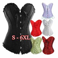 Wholesale Everyday Women Dresses - Free Shipping White Black Red Sexy Women Wedding Dress Bustier Lingerie Corselet Corset Body Shaper Shapewear S M L XL XXL 3XL 4XL 5XL 6XL