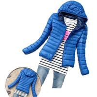 Wholesale Long Padded Hooded Coats Women - Hot Sale Women Cotton Jacket Hooded Women Coat Plus Size Thicken Winter Short Cotton Padded Outwear Casual Slim Women Jackets
